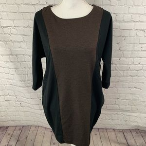 New York & co Black Brown 3/4 length sleeve dress